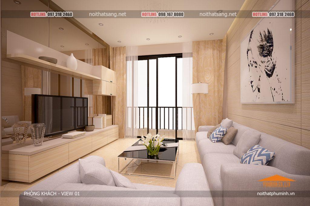 mẫu thiết kế nội thất chung cư FLC Green Home