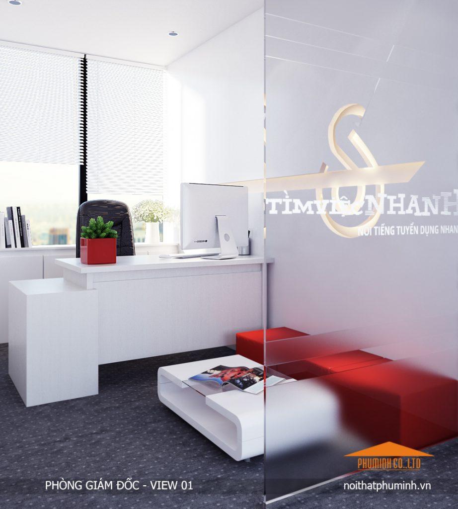 2.0 thiết kế nội thất văn phòng đẹp - phòng giám đốc