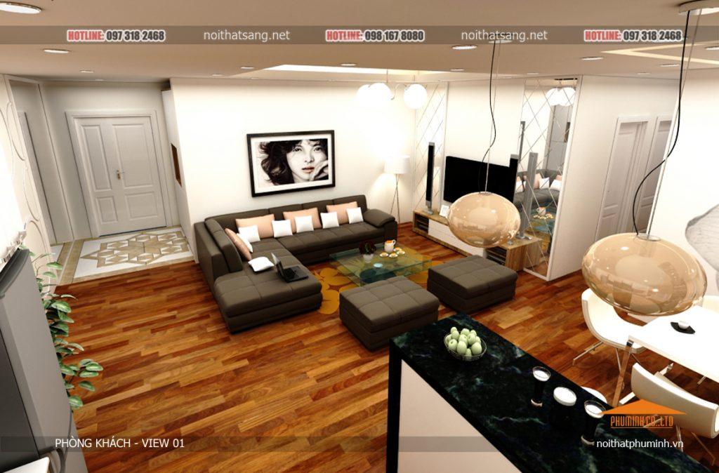 thiết kế nội thất chung cư 60m2 (1)